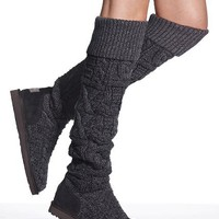 Over-the-knee Twisted Cable Boot