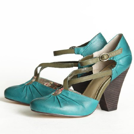 Seychelles Dolley crisscross strap heels in teal - &amp;#36;99.99 : ShopRuche.com, Vintage Inspired Clothing, Affordable Clothes, Eco friendly Fashion
