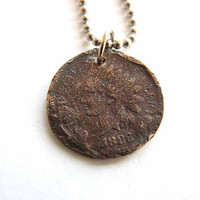 Indian Head Penny necklace - lucky penny jewelry / mens jewelry / unisex necklace
