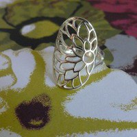 Sterling Silver Open Flower Ring