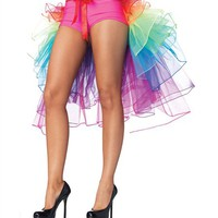 Leg Avenue Rainbow Organza Bustle - High Quality Rave TuTus and Outfits from RaveReady