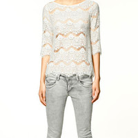 SILK LACE TOP - Shirts - Collection - TRF - ZARA United States