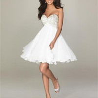 Ball Beaded Sweetheart Neckline Short Dresses WDSD026