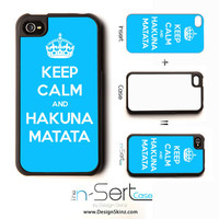 NEW Keep Calm And Hakuna Matata On n-Sert iPhone 4, 4s, 5 Case with Changeable Inserts