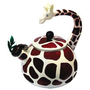 Amazon.com: Animal Kettle 2.8 Quart Whistling Enamel on Steel Giraffe Tea Kettle: Kitchen & Dining