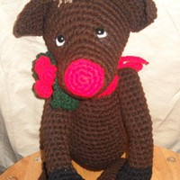 Handmade Crochet Holiday Reindeer Made To Order