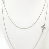 MACA Clothe · Double Strand Cross Necklace Gold