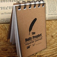 The Daily Prophet Reporter  spiralbound journal by celestefrittata