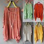 New Womens Batwing Sleeve Casual Loose Hollow Asymmetric Knit Cardigan Tops Q130