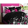 Amazon.com: Pink Black White Girls Flowered Twin Comforter Sheet Bed In A Bag Set: Home & Garden