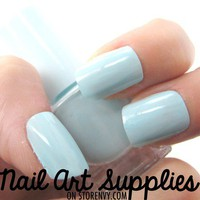 nailartsupplies | Hint of Blue - Light Pale Sky Blue Nail Polish Mini Teaser Size 5ml | Online Store Powered by Storenvy