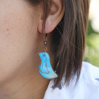 Cyber Monday Etsy-Turquoise birds earrings