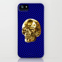 Floating Gold Skull iPhone Case by Jesse Racusen | Society6