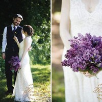 Lilac Wedding Bouquet by StyleMePretty.com