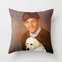 Louis Tomlinson One Direction Labrador Retriever Puppy Throw Pillow by Toni Miller | Society6
