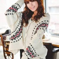 X'mas Snowflake Cape Sweater - Designer Shoes|Bqueenshoes.com