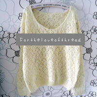Ivory Knit Sweater by For the Love of Thread