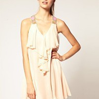 ASOS | ASOS Embellished DRESS with Ruffle Front at ASOS