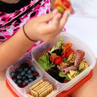 Compartmentalized BPA-Free Plastic Food Storage Containers