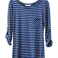 Stripes in My Stride Tunic, Blue