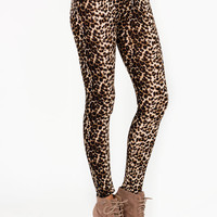 leopard-printed-leggings BROWNBLACK - GoJane.com