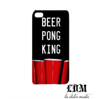 BEER PONG iPhone case hard plastic iphone4 iPhone 4s iPhone 5 cool trendy high school beer