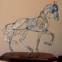 Wire horse sculpture Sentirse Vivo by EarthSugar on Etsy