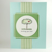 A Tree Of Love Is Being Sent With This Handmade Greeting Card
