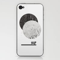 Calculating a Jump over the Moon iPhone & iPod Skin by Anna Pietrzak | Society6