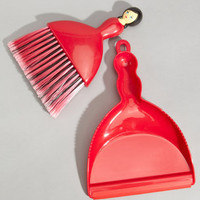 Dollhouse Brush & Dustpan Set | Red Lady Broom Set | fredflare.com