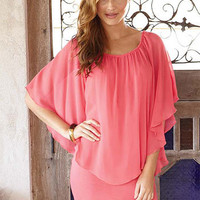 Fiana Chiffon Overlay Dress