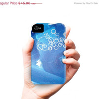iPhone 5 case - blue white grey abstract painting - geometric - modern art - phone case cover - iPhone 5 4 4s 3g Case