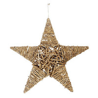 One Kings Lane - Season's Best - Twig Star Ornament, Large