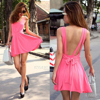 Candy Color Charming Women Elegant Clubwear Cute Tunic Party Dress X220 S M L