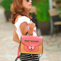 Retro Pink Small Ladies Messenger Bags : Wholesaleclothing4u.com