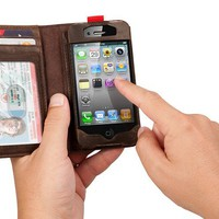 iPhone 4 / IPhone4s Leather Read BookBook Case by Julyjoy