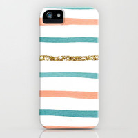 Glitter Stripe iPhone Case by Social Proper | Society6