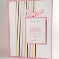 Pretty In Pink Birthday Cake On This Handmade Birthday Card
