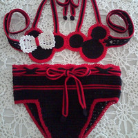 Minnie Mouse Swim Suit by kaguiar4673 on Etsy