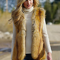 Golden Fox Fashionista Vest | Fabulous-Furs