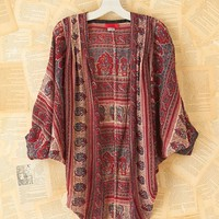 Free People Vintage Patterned Circle Cardigan Shawl