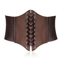 Amazon.com: HOTER® Lace-up Corset Style Elastic Cinch Belt -COFFEE: Toys & Games