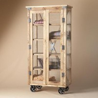 SALVAGE WIREWORK CUPBOARD        -                Storage Bookcases & Desks        -                Furniture        -                Furniture & Decor                    | Robert Redford's Sundance Catalog