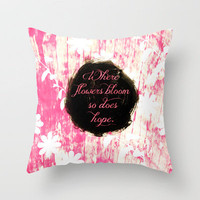 Bloom Throw Pillow by Kayla Gordon | Society6