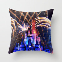 Walt Disney World Christmas Eve Fireworks Throw Pillow by xjen94 | Society6