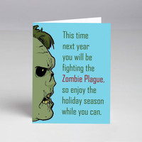 10 Pack Zombie Plague Holiday Cards