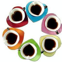Yedi Cup and Saucer (set of 6) - Inside Out Heart
