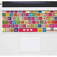 Kiss Love keyboard macbook decals mac pro stickers mac keyboard cover decal mac stickers mac stickers macbook for  mac pro /air /laptop