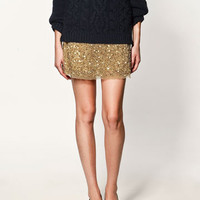 SEQUINNED MINISKIRT - Collection - Skirts - Collection - Woman - ZARA United States