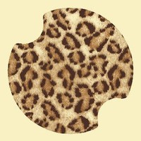 Amazon.com: Leopard Print Carsters - Coasters for Your Car: Kitchen & Dining